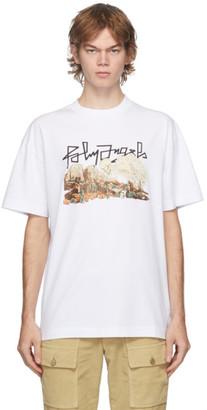 Palm Angels White Desert Skull T-Shirt