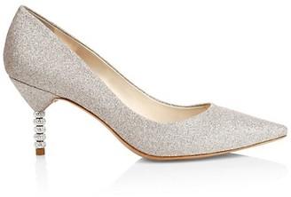 Sophia Webster Coco Embellished-Heel Glitter Pumps