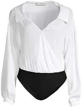 Milly Women's Stretch Silk Bodysuit