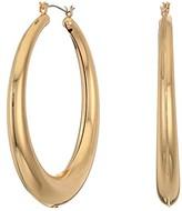 GUESS Medium Sized Graduated Tube Hoop Earrings (Silver) Earring