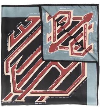 Chloé Logo-Print Silk Scarf