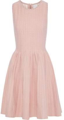 Milly Pleated Polka-dot Jacquard-knit Dress