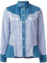 Sacai Western-style shirt - women - Cotton/Linen/Flax/Polyester/Polyurethane - 3
