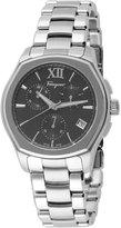 Salvatore Ferragamo 43mm Lungarno Men's Chronograph Bracelet Watch, Black