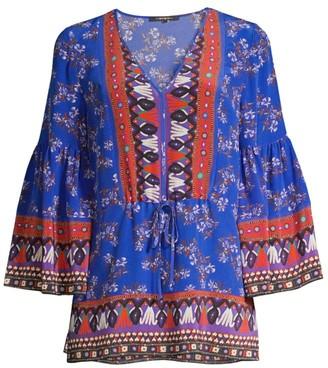 Kobi Halperin Mina Printed Silk Tunic