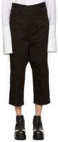 Y's Black U-Gusset Drop Trousers