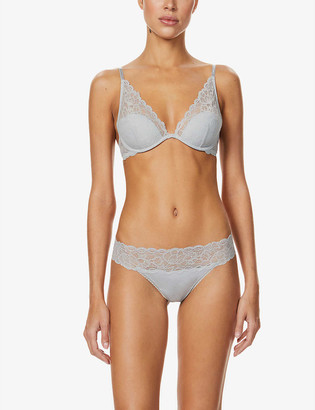 Calvin Klein Seductive Comfort plunge lace bra