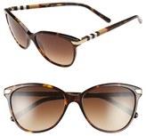 Burberry Women's 57Mm Cat Eye Sunglasses - Black