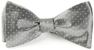 Tie Bar Mini Dots Grey Bow Tie