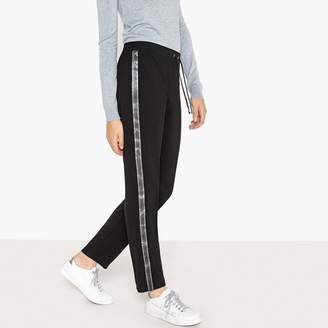 La Redoute Collections Draping Side Stripe Trousers with Elasticated Waist