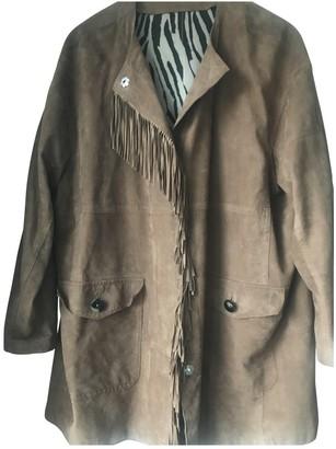 Bogner Brown Suede Leather Jacket for Women