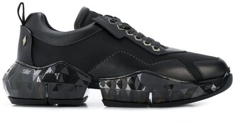 Jimmy Choo Diamond/M leather low-top trainers