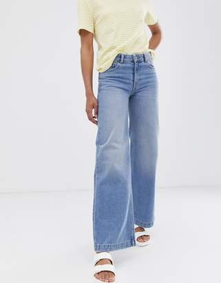 Dr. Denim relaxed fit wide leg jean-Blue