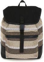 Topman Topman Stripe Canvas Backpack