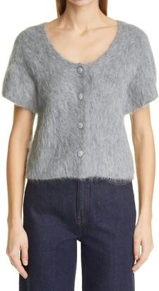 Totême Short Sleeve Alpaca Blend Cardigan