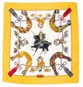 Hermes Samourai Silk Scarf