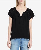 Calvin Klein Jeans Ladder-Trim Flutter-Sleeve Top