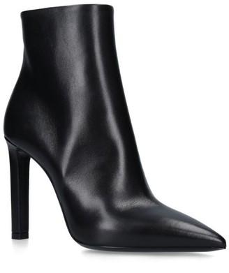 Saint Laurent Leather Kate Ankle Boots 75