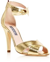Sarah Jessica Parker Buckingham Metallic Bow Sandals
