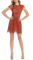 Style Stalker STYLESTALKER Laylor Fit and Flare Lace Dress