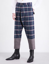 Vivienne Westwood Check-patterned high-rise cotton trousers