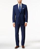 Andrew Marc Men's Classic Fit Blue Birdseye Suit