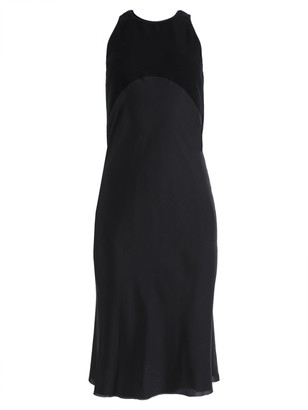 Haider Ackermann Black Silk Mid-length Dress