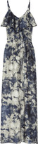 Bird by Juicy Couture Printed silk-twill maxi dress