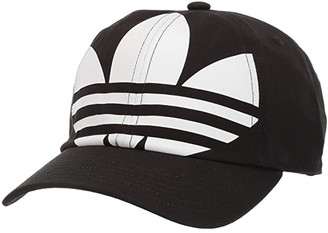 adidas Big Trefoil Relaxed Cap (Black/White) Baseball Caps