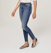 LOFT Petite Curvy High Waist Skinny Ankle Jeans in Waverly Blue Wash