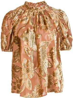 Ulla Johnson cuffed sleeve floral T-shirt