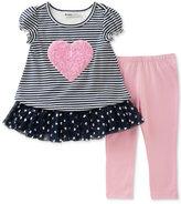 Kids Headquarters 2-Pc. Striped Tunic & Leggings Set, Toddler & Little Girls (2T-6X)