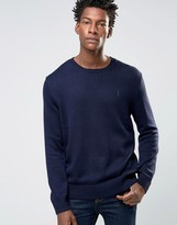 Polo Ralph Lauren Cotton Crew Neck Jumper In Navy