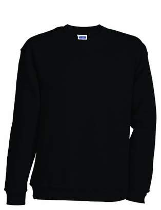 Camilla And Marc James & Nicholson Boys' Round-Sweat-Heavy Junior Sweatshirt, (Black), XXL (158/164 cm)
