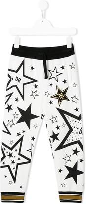 Dolce & Gabbana Kids Millennials Star print track trousers