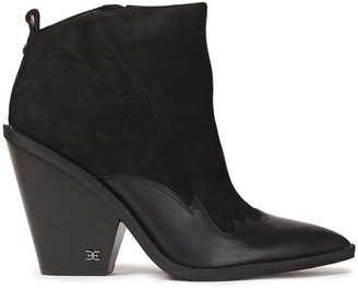 Sam Edelman Ilah Leather-trimmed Suede Ankle Boots