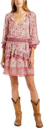 Love Sam Tippy Border Print Mini Dress