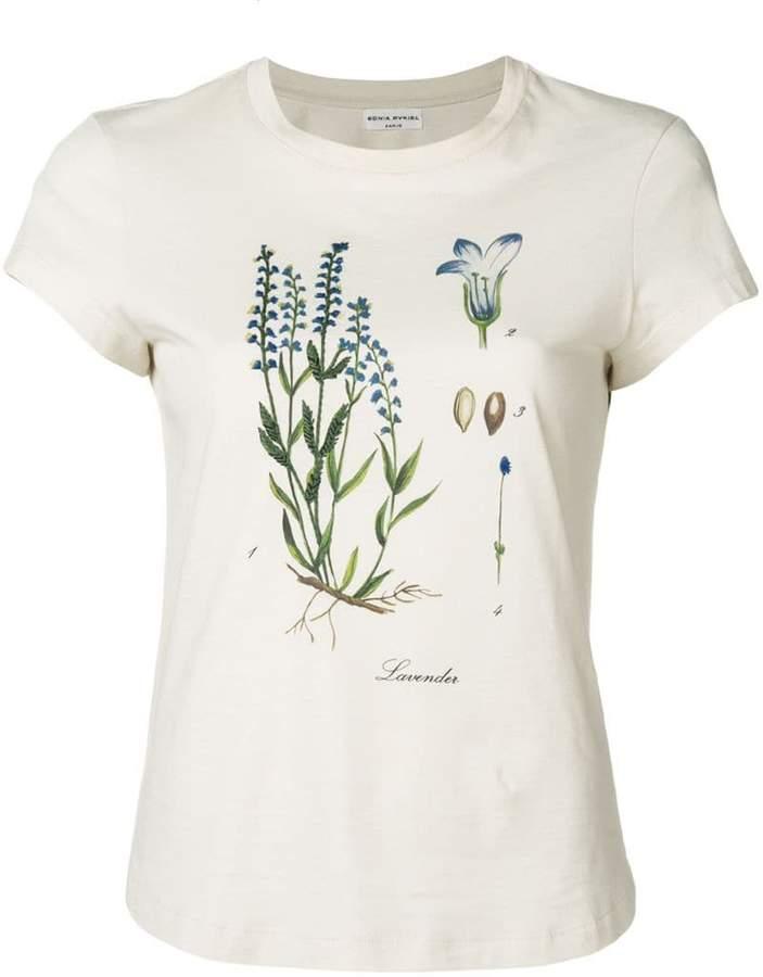 Sonia Rykiel botanical print T-shirt
