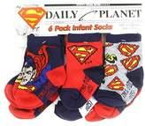 Superman Infant Baby Boys Socks - 6 Pack (12-24 mo., )