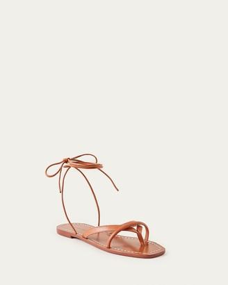 Loeffler Randall Lilla Thong Wrap Sandal Timber