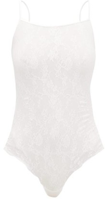 Wolford Katharina Floral-lace String Bodysuit - Womens - White