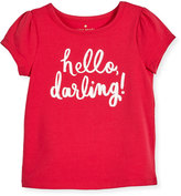 Kate Spade Hello Darling Stretch Jersey Tee, Pink, Size 7-14