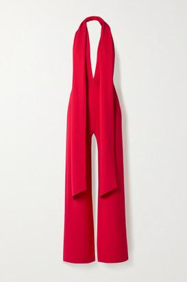 Marika Vera Elsa Crepe Halterneck Jumpsuit - Red