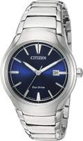 Citizen Men's 'Dress' Quartz Titanium and Stainless Steel Casual Watch, Color:d (Model: AW1550-50L)