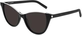 Saint Laurent Semi-Rimless Cat-Eye Sunglasses