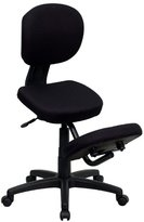 Flash Furniture WL-1430-GG Mobile Ergonomic Kneeling Posture Task Chair in Fabric with Back