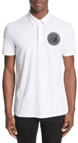 Versace Men's Crest Patch Jersey Polo