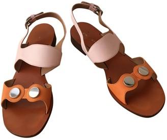 Carven Multicolour Leather Sandals