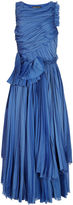 Rochas Bright Blue Textural Sleeveless Dress