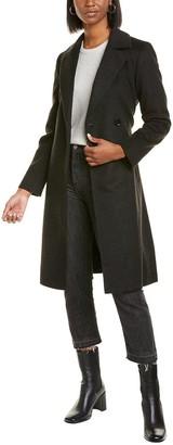 Sofia Cashmere Sofiacashmere Belted Wrap Wool & Cashmere-Blend Coat